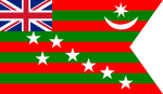 Home Rule movement's Flag of India in 1917