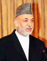 Hamid Karzai, the president of Afghanistan (Source - Flickr)