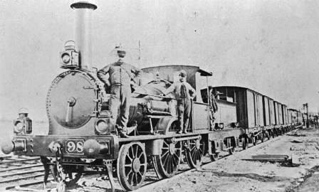 On April 16th, 1853, at 3.35pm, the first train in India left Bori Bunder, in Bombay (now Mumbai), for its destination Thane, 34 kilometres away. (Source: oldphotosbombay.blogspot.in)