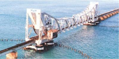 The Pamban bridge after restoration (Source: the hindu.com)