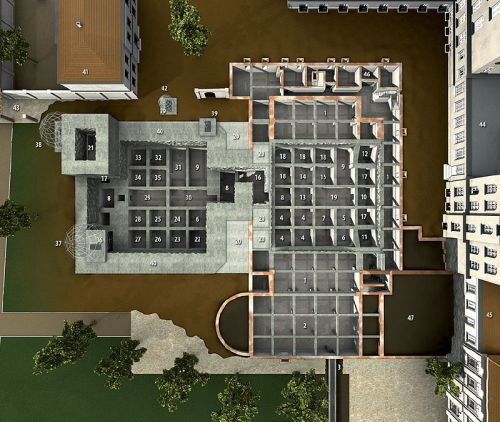 3D model of Führerbunker (left) and Vorbunker (right) by Christopher Neubauer