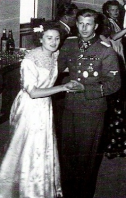 Gretl Braun and Hermann Fegelein at their wedding.