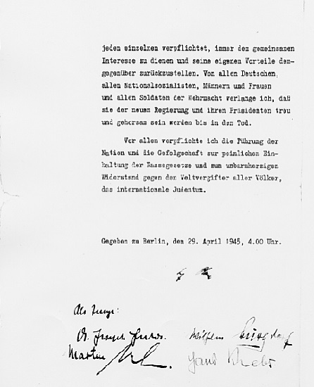 Hitler's Political Statement - Page 10 (Source: eisenhower.archives.gov)