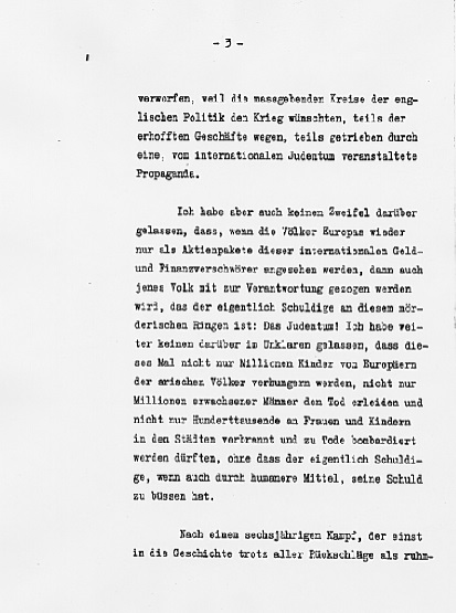 Hitler's Political Statement - Page 3 ((Source: eisenhower.archives.gov)