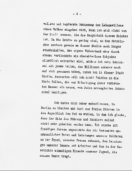Hitler's Political Statement - Page 4 ((Source: eisenhower.archives.gov)