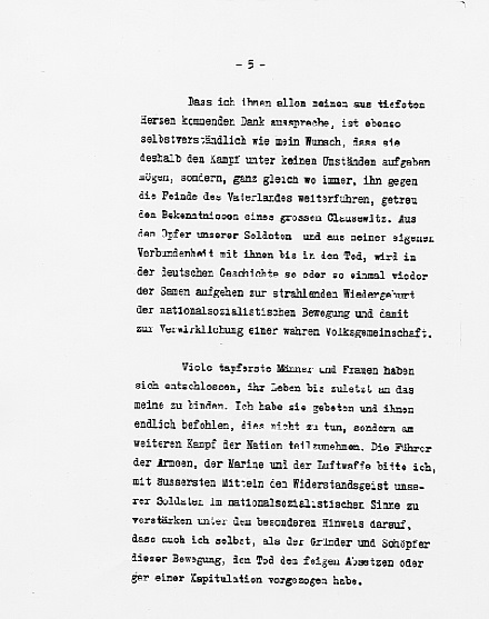 Hitler's Political Statement - Page 5 ((Source: eisenhower.archives.gov)