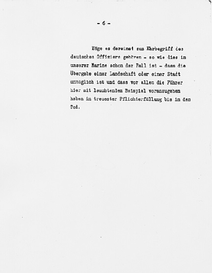 Hitler's Political Statement - Page 6 (Source: eisenhower.archives.gov)