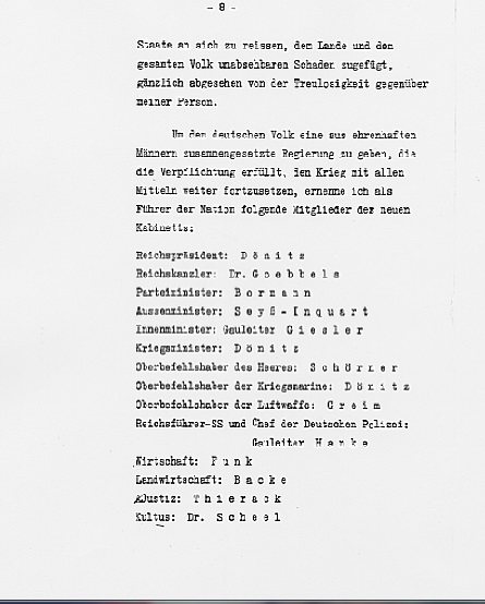 Hitler's Political Statement - Page 8 (Source: eisenhower.archives.gov)