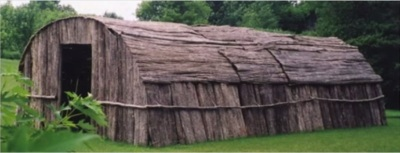 A typical Mohawk Longhouse