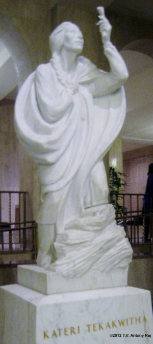 Statue of Saint Kateri Tekakwitha at the Basilica of the National Shrine of the Immaculate Conception, Washington D.C. (Photo: T.V. Antony Raj)