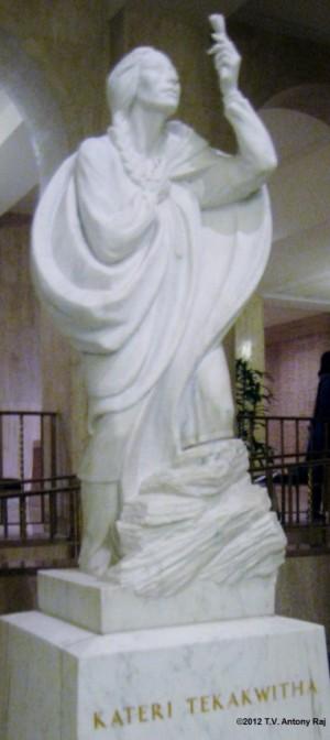 Statue of Saint Kateri Tekakwitha at the Basilica of the National Shrine of the Immaculate Conception, Washington D.C. (Photo: T.V. Antony Raj)