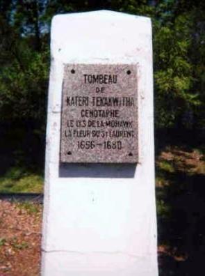 Tomb of Kateri Tekakwitha (Source: kateritekakwitha.org)