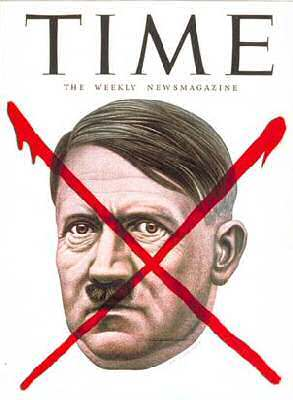 "Were reports of Hitler's death ""greatly exaggerated""? Cover of Time Magazine, May 7, 1945"