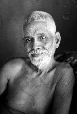 Shree   Ramana Maharshi in his late 60s. (Portrait by G. G Welling in 1948)