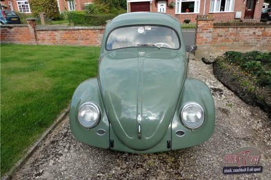 VW Ovali beetle -front view (Source: pre67vw.com)