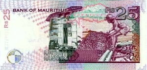 Controversial mur-25-mauritian-rupees-back