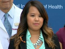 Ebola survivor Nina Pham appears at a press conference after she was discharged from the hospital on ct. 24, 2014. (Source: abcnews.go.com)