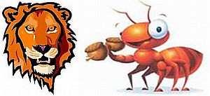The ant and the lion - a lesson in management (Source: 247freetips.com)