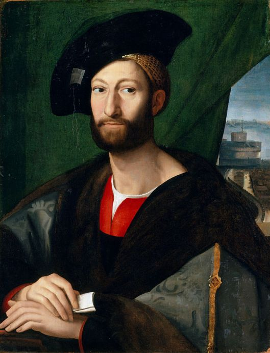 An anonymous copy of the lost portrait of Giuliano de' Medici by Raphael.