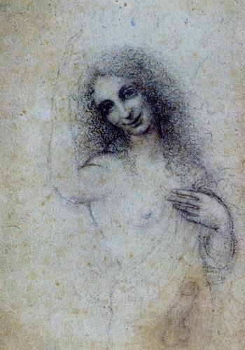 Angel Incarnate - a charcoal drawing by Leonardo da Vinci (c. 1515)