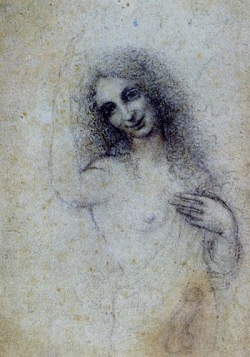 Angel Incarnate - a charcoal drawing by Leonardo da Vinci (c. 1515)