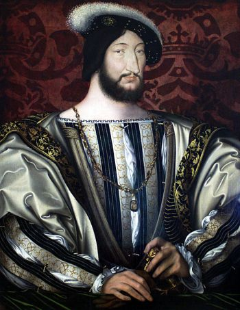 King Francis I of France by Jean Clouet.