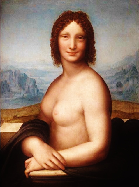 Monna Vanna by Andrea Salaì - a nude version of the Mona Lisa.