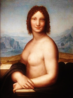Monna Vanna by Andrea Salaì - a nude version of the Mona Lisa.