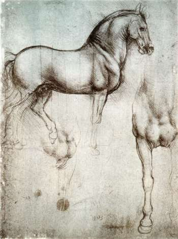 Leonardo da Vinci's study of horses (1490)
