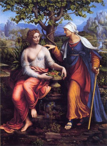 Vertumnus and Pomona (1518–1522) by Francesco Melzi (Gemäldegalerie, Berlin)
