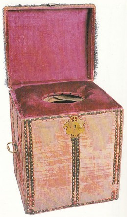 "A royal toilet - still on view at Hampton Court, London. (Source: ""A History of Humanity's Disgusting Hygiene"")"