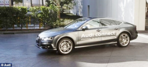 Audi's self parking A7 being tested in Las Vegas (Source: dailymail.co.uk)