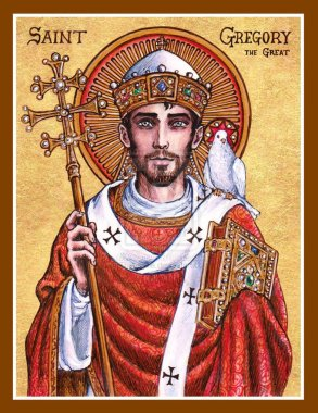 Icon of St. Gregory the Great by Theophilia (Source: theophilia.deviantart.com)
