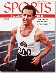 John Landy, Runner May 21, 1956 (Photo credit: Mark Kauffman - staff)
