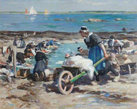 A Breton Washing Pool - painting by William Marshall Brown, Royal Scottish Academy of Art & Architecture