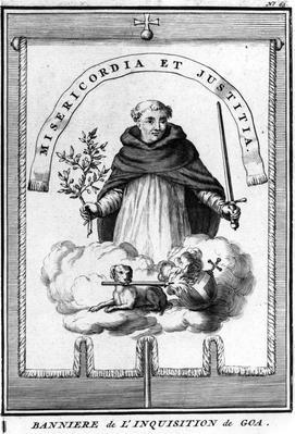 Banniere de l'Inquisition de Goa. Provenance - Private Collection. Photographic Rights The Bridgeman Art Library.
