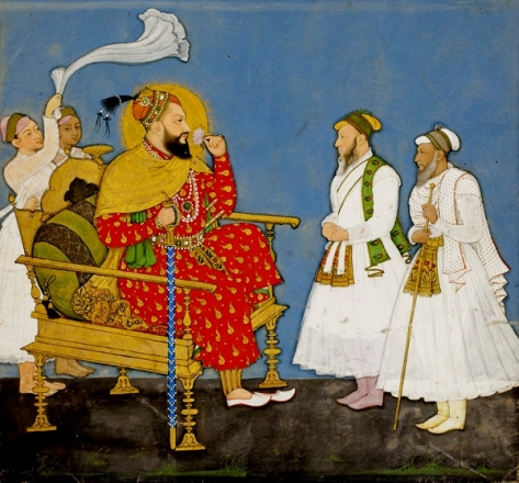 Muhammad Adil Shah II with courtiers and attendants. (Source: asia.si.edu)