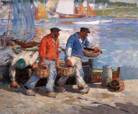 Sardine Fishers, Concarneau, France - painting by William Marshall Brown, City of Edinburgh Council.