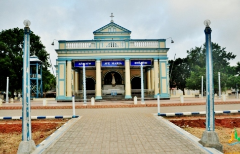 The Shrine of Our Lady of Madhu is a Roman Catholic Marian shrine in Mannar district of Sri Lanka.  (Source: Lakpura Travels)