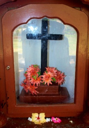 The wooden Cross that Saint Joseph Vaz brought from India, presently placed at Galgamuwa Church, in the Diocese of Kurunegala, Sri Lanka. (Source: archdioceseofcolombo.com)