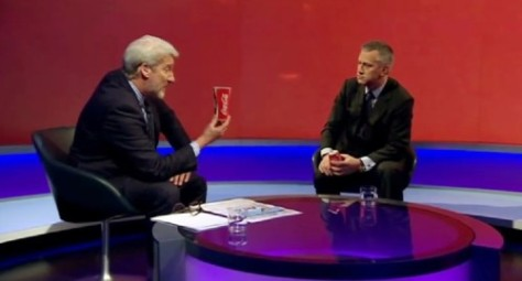 Jeremy Paxman speaks with James Quincey, president of Coca Cola Europe on  BBC Newsnight.