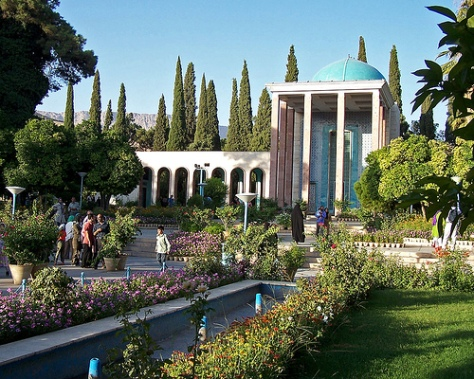 Funerary Monument of Sa'di,  in Shiraz, Iran (Source: findagrave.com)