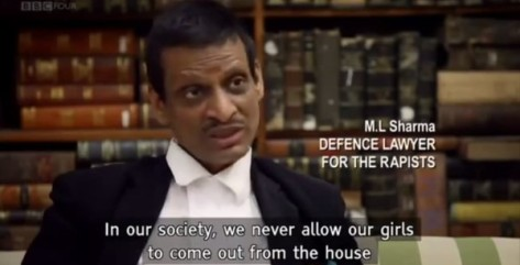 M.L. Sharma, Defence Lawyer for the rapists (Custom)