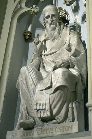 Statue of St John Chrysostom, at St Patrick's cathedral, New York City. (Source: wikimedia commons)
