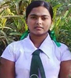 17-year-old Vidhya, the rape victim (Source: lankaenews.com)