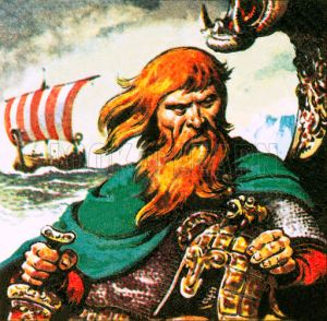 Erik the Red, the fierce red-haired Viking discovered Greenland about AD 982. (Source: lookandlearn.com)