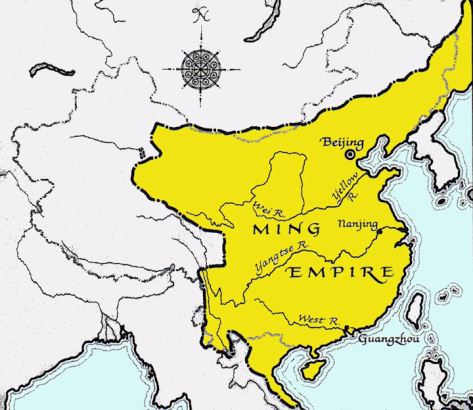 Map of the Ming Empire (Source: globalsecurity.org)