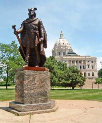 Statue of Leif Erikcson near the State Capitol in St. Paul, Minnesota.