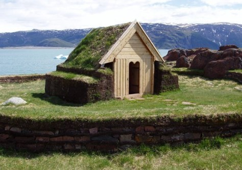 Replica of Tjodhilde's Church, was built in Brattahlið (Source: greenland.com)