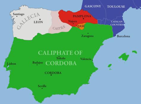 Al_Andalus & Christian Kingdoms (Source: en.wikipedia.org)